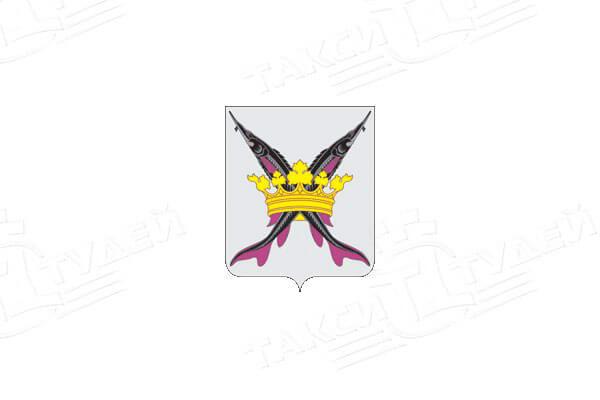 герб поселка Белоомут. Заказать такси в Белоомут