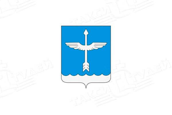 герб поселка Белоозёрский. Заказать такси в Белоозёрский