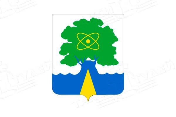 герб города Дубна. Заказать такси в Дубну