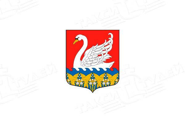герб поселка Лебяжье. Заказать такси в Лебяжье