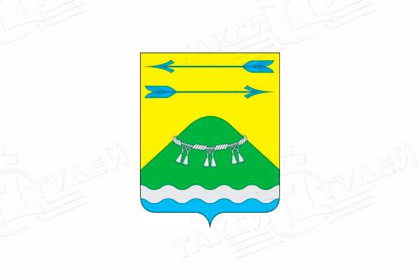 герб поселка Тельмана. Заказать такси в поселок Тельмана
